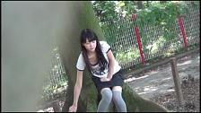 Attractive Asian Honeys Caught Pissing In Public - Scene 5