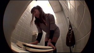 Adorable Asian Chicks Pissing In The Ladies Room - Scene 5