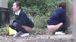Urination Of Co-Eds In Tokyo - Scene 6