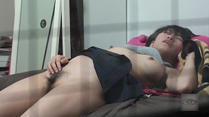 Nasty Asian Honies Rub Their Tiny Clam - Scene 1