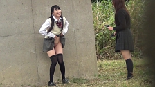 Kinky Co-Eds Peeing In Public - Scene 3