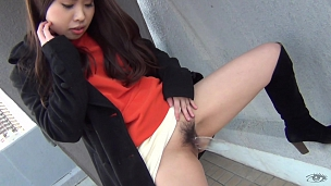 Sexy Asian Chicks Are Pissing In Public Place - Scene 7