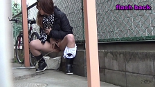 Bitches Pissing Outdoors - Scene 2