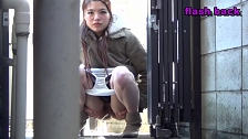 Bitches Pissing Outdoors - Scene 3